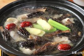 羊肚菌的做法(天冷最爱喝热汤,用羊肚菌炖了一碗鸡汤,味道鲜美)